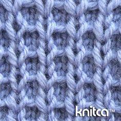 Right side of knitting stitch pattern – Slip Stitch 15 : www.knitca.com