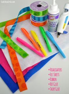 Teacher Appreciation Highlighter Roll Gift Idea | Club Chica Circle - where crafty is contagious
