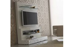 Diamond Modern Italian TV Stand in Ivory by Rossetto