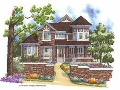 Victorian House Plan with 3270 Square Feet and 4 Bedrooms from Dream Home Source | House Plan Code DHSW17094