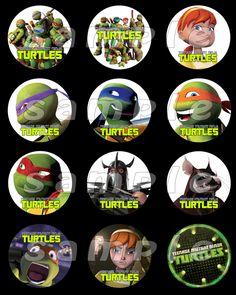 Teenage Mutant Ninja Turtles Stickers/ cupcake toppers - $3.00 - Handmade Crafts by Reel Party Invitations