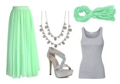"""Minty gray"" by kaitlyn-nordberg ❤ liked on Polyvore featuring Splendid, Chicwish and Givenchy"