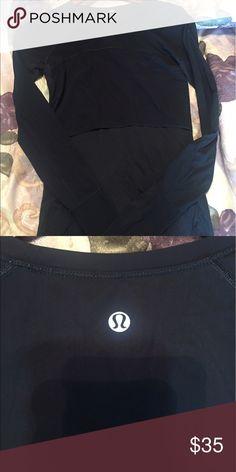 Black lulu long sleeve! Super cute! Like new! lululemon athletica Tops