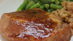 Pork chops cook in a tangy marinade of soy sauce, Worcestershire, and ketchup-15-minute prep!