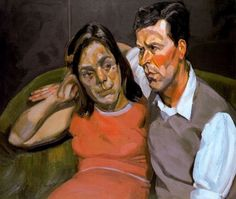 Michael Andrews and June, oil on canvas, 70 x 60cm, Lucian Freud 1965 (79) private collection