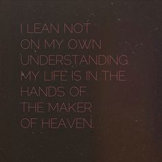 There are some things that I will NEVER understand. But God is in control & I Trust Him.