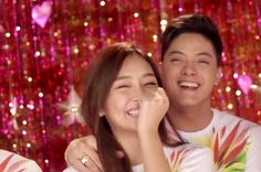 """This is Kathryn Bernardo and Daniel Padilla sharing a laugh together during the recording of the 2015 ABS-CBN Christmas station ID, """"Thank You for the Love!"""" They're the best Kapamilya love team I ever liked, along with LizQuen and JaDine. Inigo Pascual, Daniel Johns, Enrique Gil, Daniel Padilla, John Ford, Liza Soberano, Kathryn Bernardo, Nadine Lustre, Jadine"""