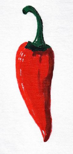 Red Chili Pepper Hand Painted TShirt Red by DecadentAndFabulous, £14.00