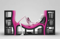 The Bookshelf with a Bench