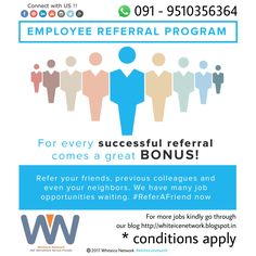 Employee Referral With Wipro IT Is Fun Mailers Newsletters - Awesome employee referral program template concept