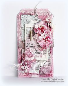 mixed media tag,♥ 13arts, Nadia Cannizzo