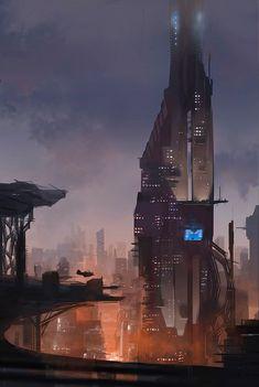 Alex J Cunningham #cyberpunk #future #city