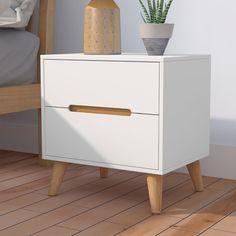 Dylan 2 Drawer Bedside Table Fjørde & Co Bedroom Furniture, Furniture Design, Bedroom Decor, Wooden Bedroom, Bedroom Table, Bedroom Sets, Furniture Plans, Kids Furniture, Bedside Table Design