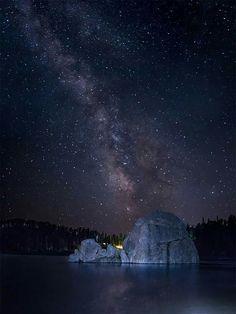 Milky Way over Sylvan Lake in the Black Hills of South Dakota.