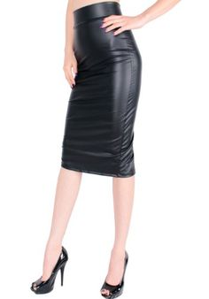LeggingsQueen High Waist Stretch Basic Pencil Skirt (Medium, Black Faux Leather) LeggingsQueen http://www.amazon.com/dp/B00FUTCVLM/ref=cm_sw_r_pi_dp_Ht.sub1AQV3D1