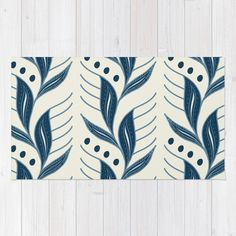 Indigo Leaves #society6 #pattern #indigo Rug