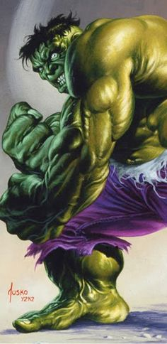Hulk by Joe Jusko (love his expression, so much anger)