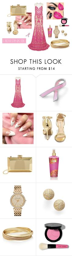 """""""#iwearpinkforpink"""" by mer-ima-hadzic ❤ liked on Polyvore featuring Naeem Khan, Bling Jewelry, Wild Diva, Lulu*s, Victoria's Secret, MICHAEL Michael Kors, Bony Levy, The Limited and Bobbi Brown Cosmetics"""