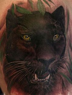 Photo category Panther tattoo at number description Wonderful watercolor black panther tattoo Leopard Tattoos, Black Cat Tattoos, Animal Tattoos, Tiger Tattoo Sleeve, Big Cat Tattoo, Sleeve Tattoos, Rose Tattoo Black, Black Panther Tattoo, Panther Tattoos