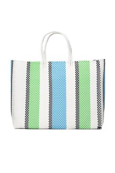 Le Specs - Large Tote Bag in Green/Turquoise