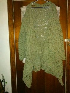 Front of crocheted sweater
