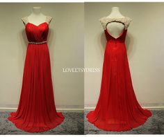 Evening dressParty dressRed Prom dressPlus size by loveetsydress, $139.00