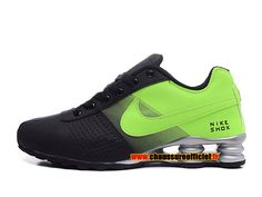 Nike Shox Deliver Chaussures Nike Officiel Pas Cher Pour Homme Noir / Vert
