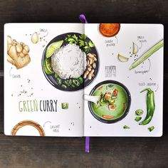 Hot spicy green curry