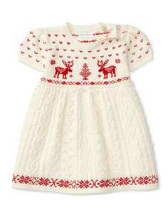 0aef2c9948f0a Reindeer Cable Sweater Dress - Baby Girl Dresses - RalphLauren.com Toddler  Sweater Dress,