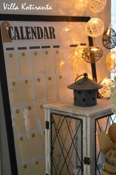 / DIY: Calendar, which can be used year after year! Diy Calendar, Canning, Conservation