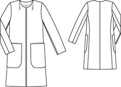 Пальто: Burda 2/ 2012/ 113 / Burdastyle