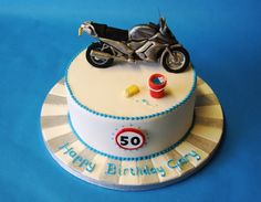 Motorcycle sports bike birthday cake Race / motorcycle birthday party