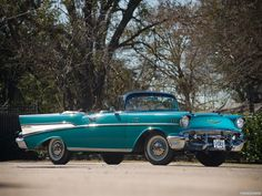 1957 Chevrolet Bel Air 2-door Convertible - What fantasy garage would be complete without one of these?