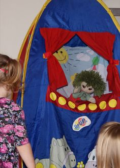 Kids love interacting with the puppet characters