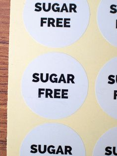 Sugar Free sticker white glossy paper by ctdscraftsupply Food Stickers, Sugar Free, Paper, Handmade Gifts, Etsy, Kid Craft Gifts, Craft Gifts, Diy Gifts, Hand Made Gifts