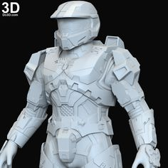 Suit Of Armor, Body Armor, Halo Cosplay, Halo Armor, 3d Printing Industry, Prop Maker, 3d Printable Models, Robot Design, File Format