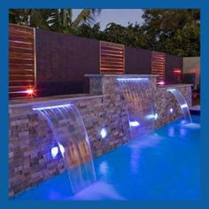 SPA Waterfall with LED Light, Waterfall for Swimming Pool, Indoor Artificial Waterfalls pool tiles mosaics [Hot Item] SPA Waterfall with LED Light, Waterfall for Swimming Pool, Indoor Artificial Waterfalls Swimming Pool Waterfall, Swimming Pool Lights, Small Swimming Pools, Luxury Swimming Pools, Swimming Pools Backyard, Dream Pools, Swimming Pool Designs, Pool With Waterfall, Swimming Pool Fountains