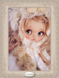 ◆ Cotton Tail ◆ cotton candy dog chan Custom Blythe (USED) Buy her here: #blythe #blythedolls #kawaii #cute #rinkya #japan #collectibles #neoblythe #customblythe