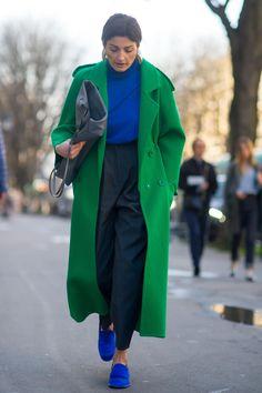 On the street at Paris Fashion Week. Photo: Moeez/Fashionista