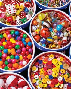 Springbok Puzzles - Buttons and Bowls - 1000 Piece Jigsaw Puzzle - Large 24 Inches by 30 Inches Puzzle - Made in USA - Unique Cut Interlocking Pieces Diy Baby Gifts, Homemade Toys, Toys For Boys, Kids Toys, Baby Toys, Thing 1, Over The Rainbow, Puzzle Pieces, Rainbow Colors