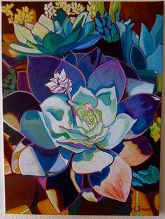Purple Succulent on ArtCenter Gallery