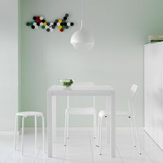My favorite! - MELLTORP table seats 2 with ADDE chair and MARIUS stool all in white