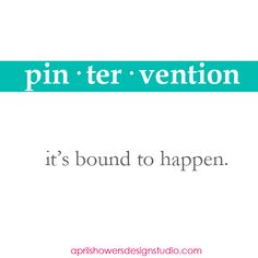 pin - ter - vention by aprilshowersdesignstudio  #Pintervention #aprilshowersdesignstudio