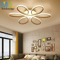 White/Black/coffee Modern LED chandelier for living room bedroom dining room aluminum body Dimming home lamp lighting luminarias fixture Modern Led Ceiling Lights, Led Pendant Lights, Led Chandelier, Ceiling Light Fixtures, Ceiling Lighting, Led Lamp, Wall Molding, Diy Molding, Chandelier In Living Room