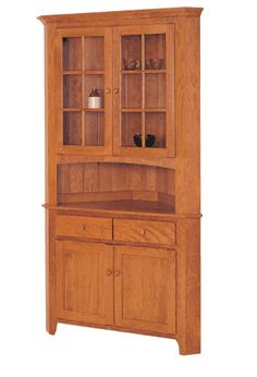 "Amish Shaker 33"" Corner Hutch - Keystone Collection"
