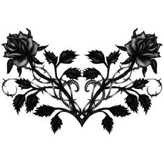A gothic tattoo design of black roses for women. Flower Tattoo Designs, Flower Tattoos, Loreena Mckennitt, Black Rose Tattoos, Tattoo Black, You Are Art, Gothic Tattoo, Feminine Tattoos, Tattoo Parlors