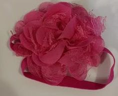 Hot Pink Flower Infant Headband by LilahBea on Etsy