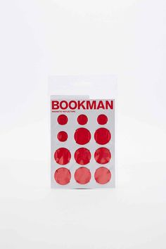 Bookman Magnetic Bike Reflectors in Red