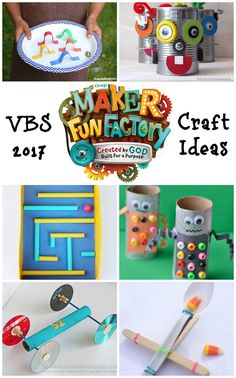 13 Maker Fun Factory Craft Ideas VBS -Invention inspired craft ideas