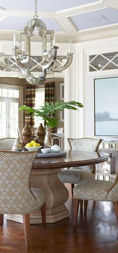 Cindy Rinfret - Interior Design Transitional Dining Room
